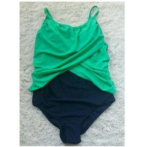 Green/Blue Swimsuit Size xxxl